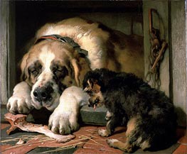 Doubtful Crumbs | Landseer | Painting Reproduction