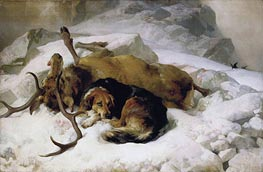 Chevy 'Weel, Sir, if the Deer Got the Ball, Sure's Death Chevy; Will no Leave Him' | Landseer | Gemälde Reproduktion