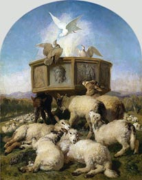The Baptismal Font | Landseer | Painting Reproduction