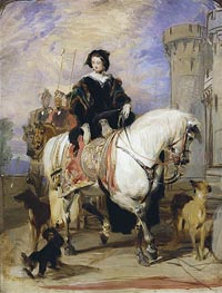 Queen Victoria on Horseback, c.1838 by Landseer | Painting Reproduction