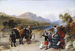 Queen Victoria at Loch Laggan | Landseer | Painting Reproduction