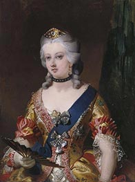 Queen Victoria in Fancy Dress, 1845 von Landseer | Gemälde-Reproduktion
