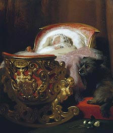 Princess Alice Asleep, 1843 von Landseer | Gemälde-Reproduktion