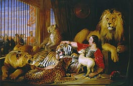 Isaac van Amburgh and his Animals, 1839 von Landseer | Gemälde-Reproduktion