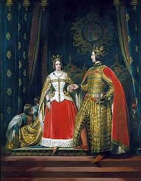 Queen Victoria and Prince Albert at the Bal Costume of 12 May 1842, c.1842/46 von Landseer | Gemälde-Reproduktion