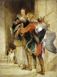 The Falcon | Landseer | Painting Reproduction