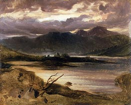 Lake Scene, a.1830 by Landseer | Painting Reproduction