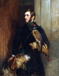 The Falconer (Portrait of William Russell), a.1830 by Landseer | Painting Reproduction