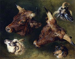 Studies of Cattle and Sheep, 1868 by Landseer | Painting Reproduction