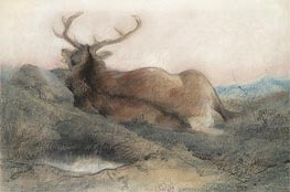 A Stag at Tarbet, 1858 by Landseer | Painting Reproduction