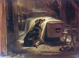 The Old Shepherd's Chief Mourner, 1837 by Landseer | Painting Reproduction
