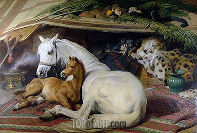 The Arab Tent, 1866 | Landseer | Painting Reproduction