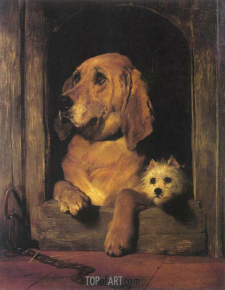 Dignity and Impudence, 1839 | Landseer | Painting Reproduction