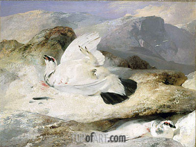 Ptarmigan in a Landscape, 1833 | Landseer | Painting Reproduction