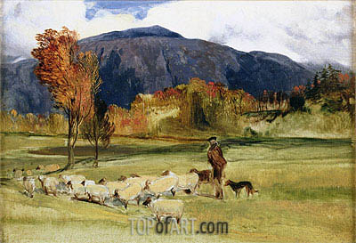 A Shepherd and his Flock, undated | Landseer | Gemälde Reproduktion