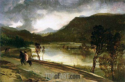 A Highland Loch, undated | Landseer | Painting Reproduction