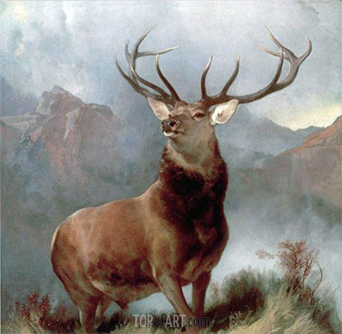 Monarch of the Glen, 1851 | Landseer | Gemälde Reproduktion