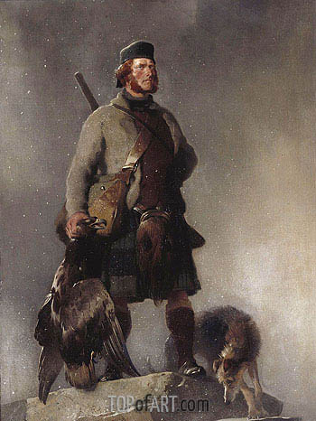 The Highlander, 1850 | Landseer | Painting Reproduction