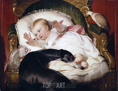Victoria, Princess Royal with Eos, 1841 | Landseer | Painting Reproduction