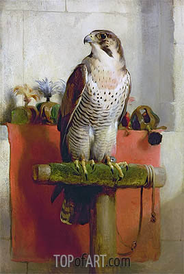 Falcon, 1837 | Landseer | Painting Reproduction