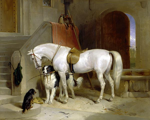 Favourites, the Property of H.R.H. Prince George of Cambridge, c.1834/35 | Landseer | Painting Reproduction