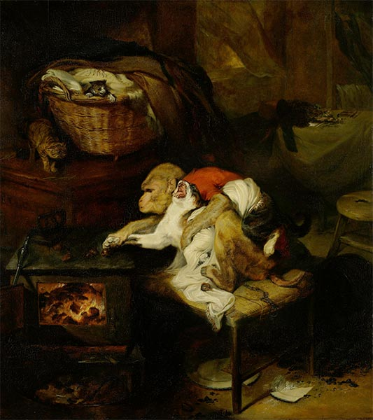 The Cat's Paw, c.1824 | Landseer | Painting Reproduction