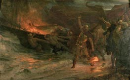 The Funeral of a Viking, 1893 by Frank Dicksee | Painting Reproduction