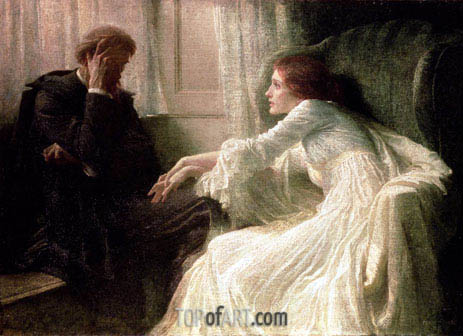 The Confession, undated | Frank Dicksee | Painting Reproduction