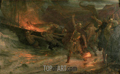 The Funeral of a Viking, 1893 | Frank Dicksee | Painting Reproduction