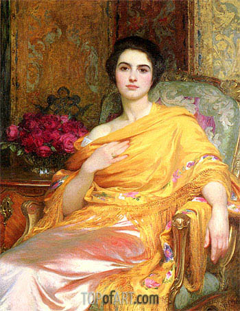 Portrait of Elsa, 1927 | Frank Dicksee | Painting Reproduction