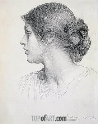 Beatrice Stuart, 1912 | Frank Dicksee | Painting Reproduction