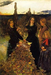 Autumn Leaves, c.1855/56 von Millais | Gemälde-Reproduktion