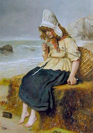 Message from the Sea, c.1894 von Millais | Gemälde-Reproduktion