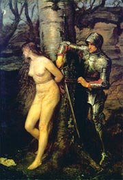 The Knight Errant, 1870 von Millais | Gemälde-Reproduktion
