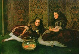 Leisure Hours, 1864 von Millais | Gemälde-Reproduktion
