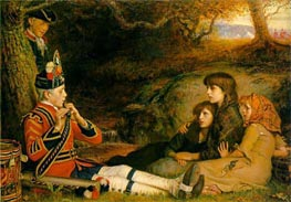 An Idyll of 1745 (The Piper) | Millais | Painting Reproduction