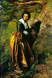 The Proscribed Royalist 1651 | Millais | Painting Reproduction