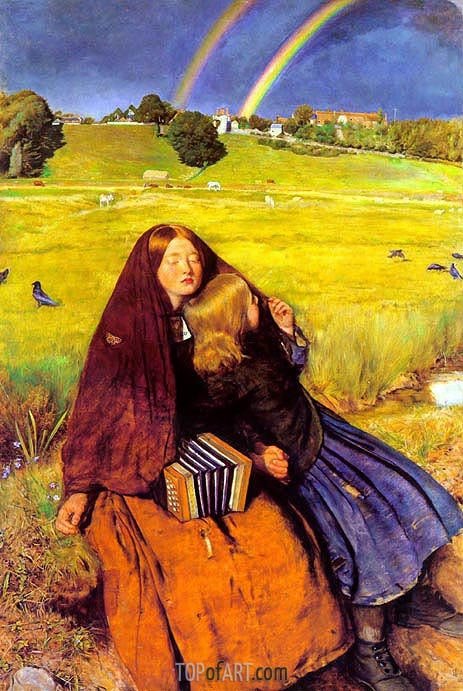 The Blind Girl, c.1854/56 | Millais | Painting Reproduction
