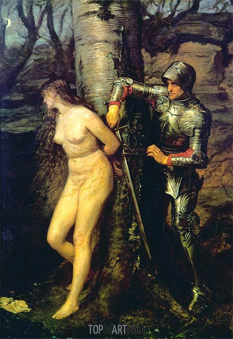 The Knight Errant, 1870 | Millais | Painting Reproduction