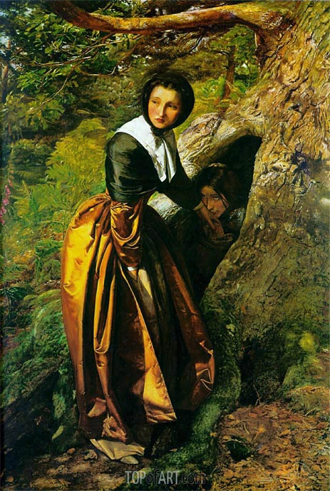The Proscribed Royalist 1651, 1853   Millais   Painting Reproduction