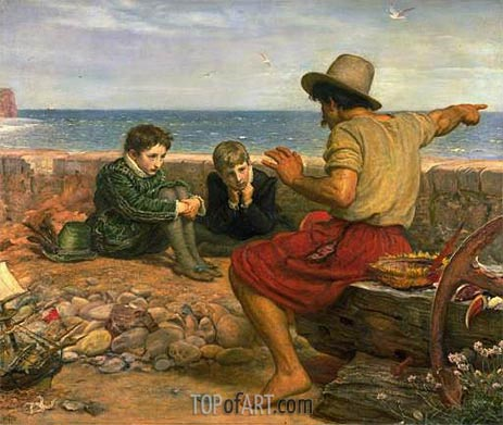 The Boyhood of Raleigh, 1870 | Millais | Painting Reproduction