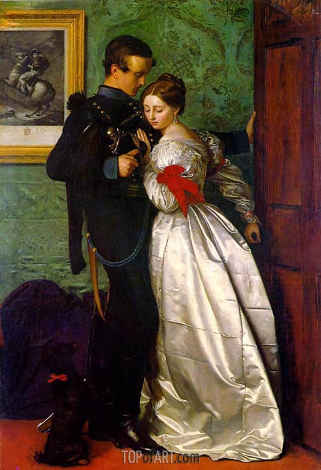 The Black Brunswicker, 1860 | Millais | Painting Reproduction