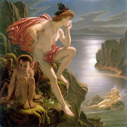 Oberon and the Mermaid | Joseph Noel Paton | Gemälde Reproduktion