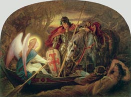 How an Angel Rowed Sir Galahad Across Dern Mere | Joseph Noel Paton | Painting Reproduction