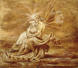 Fairies on a Shell | Joseph Noel Paton | Gemälde Reproduktion