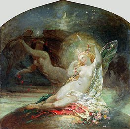 The Fairy Queen, undated von Joseph Noel Paton | Gemälde-Reproduktion