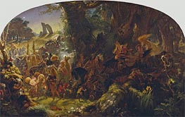 The Fairy Raid: Carrying off a Changeling - Midsummer Eve, 1867 von Joseph Noel Paton | Gemälde-Reproduktion