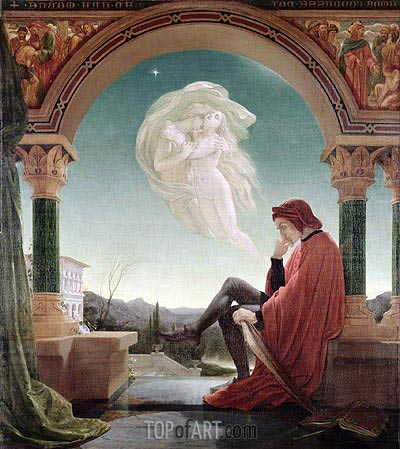 Dante's Dream, from the 'Divine Comedy', undated | Joseph Noel Paton | Painting Reproduction