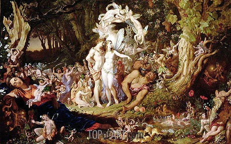 The Reconciliation of Oberon and Titania, 1847 | Joseph Noel Paton | Painting Reproduction