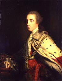The 4th Duke of Queensbury (Old Q) as Earl of March | Reynolds | Gemälde Reproduktion